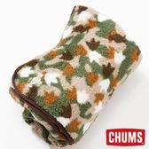 CHUMS 日本 Fleece Elmo 隨身毯 腳掌迷彩CH621141Z086