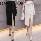 半身裙中長款2021春夏新款包臀裙子女夏韓版高腰春季長裙子一步裙 快速出貨