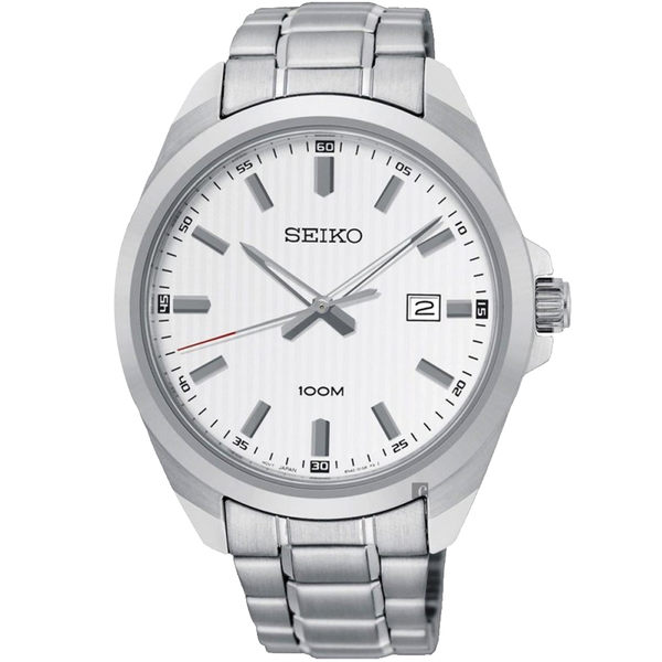 SEIKO 精工 城市時尚石英手錶-銀/42mm 6N42-00H0S(SUR273P1)
