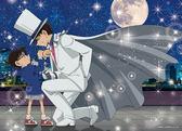 【拼圖總動員 PUZZLE STORY】月光下的邂逅 日本進口拼圖/Epoch/名偵探柯南/500P