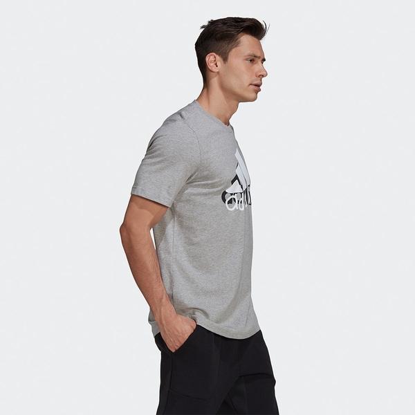 ADIDAS ATHLETICS GRAPHIC TEE 男裝 短袖 T恤 LOGO 純棉 灰【運動世界】GN6864