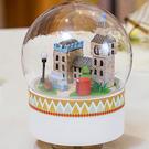 【WT16122319】 手製DIY小屋 手工拼裝房屋模型建築  音樂水晶球-浪漫倫敦街景