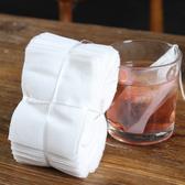一次性泡茶袋(100入) 過濾袋 中藥袋 滷包 煲湯 茶包袋 無紡布  佐料袋 煎藥 花茶【N323-1】慢思行