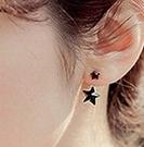 ►來自星星的你 新款韓版 黑色彩色後掛式兩用耳釘耳環【B1146】