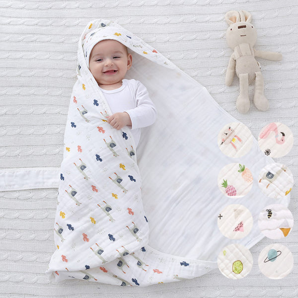 春秋夏薄款水洗純棉紗布新生兒包被 包巾 新生兒 嬰兒 橘魔法 Baby magic 現貨