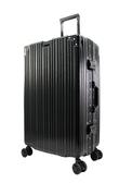 29吋古典鋁框旅行箱-黑色