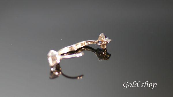 ╭☆ gold shop ☆╯白K金 耳環 [ ke 007 ]
