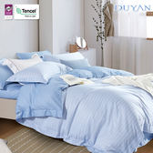 《DUYAN竹漾》天絲雙人床包被套四件組-初晴海風