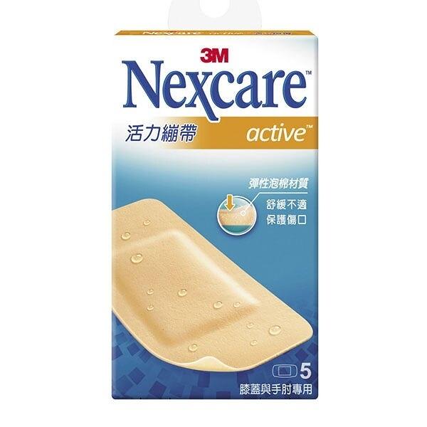 【3M Nexcare】活力繃帶(膝蓋與手肘專用) 5片 /盒