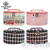 化妝包大容量多功能韓版化妝品收納包小號便攜化妝箱手提可愛少女 晴川生活館