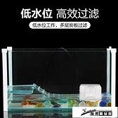 烏龜缸 帶曬台烏龜別墅養龜的專用去缸小型魚缸玻璃龜缸家用生態龜缸 酷男