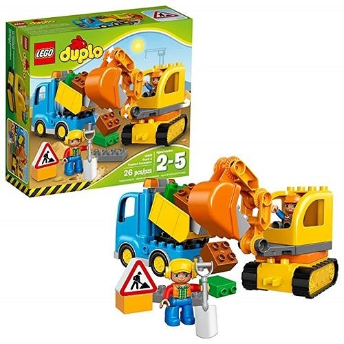 LEGO 樂高 DUPLO Town Truck & Tracked Excavator 10812 Dump Truck and Excavator (26 pieces)