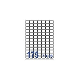 裕德  U1127電腦列印標籤175格27X11mm-20張入 / 包