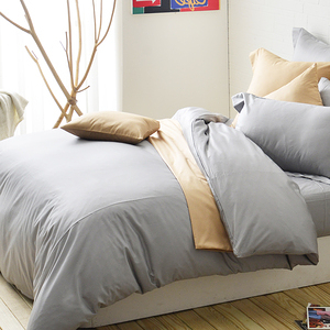 Cozy inn極致純色-300織精梳棉被套-加大(多款顏色任選)淺灰