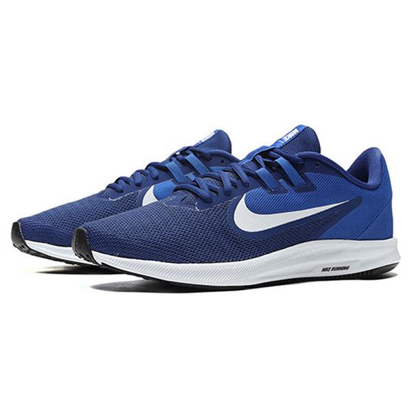 NIKE DOWNSHIFTER 9 男鞋 慢跑 輕量 訓練 健身 藍 【運動世界】 AQ7481-400