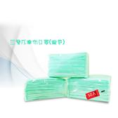 台灣製造三層防塵口罩基本款-綠100片(50片/包)