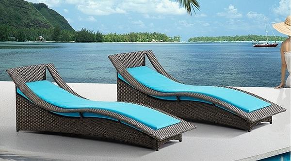 【南洋風休閒傢俱】戶外躺椅系列 - 編藤躺椅 造型躺床 戶外躺床 游泳池躺椅 B1001