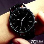 手表女士學生韓版時尚潮流防水簡約夜光男表皮帶女表情侶手表一對