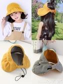 防曬帽兒童帽子夏季防曬薄親子女童嬰兒寶寶遮陽帽空頂大帽檐公主太陽帽618購