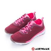 美國AIRWALK  SOCKIN 雙層襪感心機輕量慢跑鞋 - 女紅