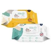 【買2送1贈品】韓國 K-MOM 自然純淨嬰幼兒濕紙巾(掀蓋柔花款)100張 【小三美日】圖案隨機出貨