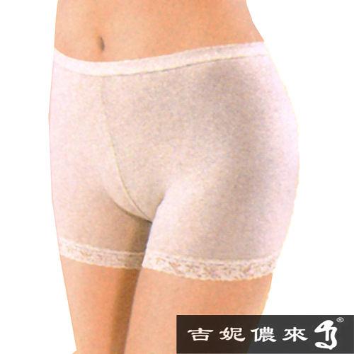 吉妮儂來天然彩棉舒適高腰蕾絲平口褲 6件組 (尺寸Free)