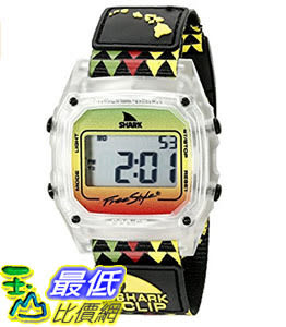 [106美國直購] Freestyle 手錶 Unisex 10022119 B00TYE8UTG Shark Clip Hawaii Digital Display Japanese Quartz Black Watch