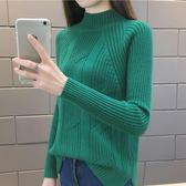 秋冬季新款半高領套頭毛衣女2018春韓版寬鬆加厚純色打底衫潮外套