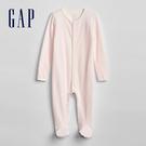 Gap男女嬰兒 純棉條紋連腳一件式長袖包...