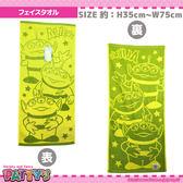 日本迪士尼三眼怪毛巾長方巾綠底397770通販屋