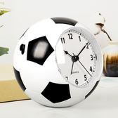 漢時創意兒童鬧鐘學生男靜音床頭鍾卡通可愛個性鬧錶足球時鐘HA09 電購3C