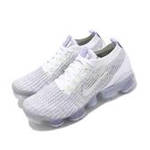 Nike 慢跑鞋 Wmns Air Vapormax Flyknit 3 白 銀 紫 大氣墊 女鞋 【PUMP306】 AJ6910-102