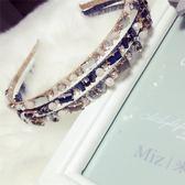 鑲鑽髮圈(任兩件)-時尚閃耀水晶設計女髮箍3款73gi8[時尚巴黎]