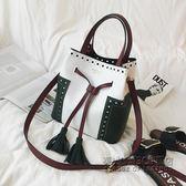 新款流蘇手提女包時尚休閒單肩斜背包大包