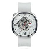 【FILA 斐樂】層次感隕石機械腕錶-百搭白/38-307-001/台灣總代理公司貨享兩年保固