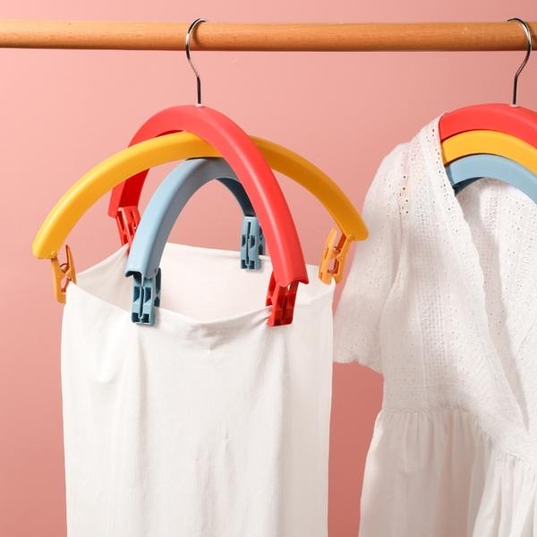 【2個/組】彩虹衣架 衣架 旋轉衣架 防風衣架 曬衣架 69313