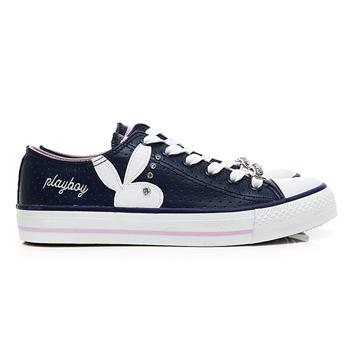 PLAYBOY 繽紛世界 可拆鞋帶釦休閒鞋-藍(Y5705)
