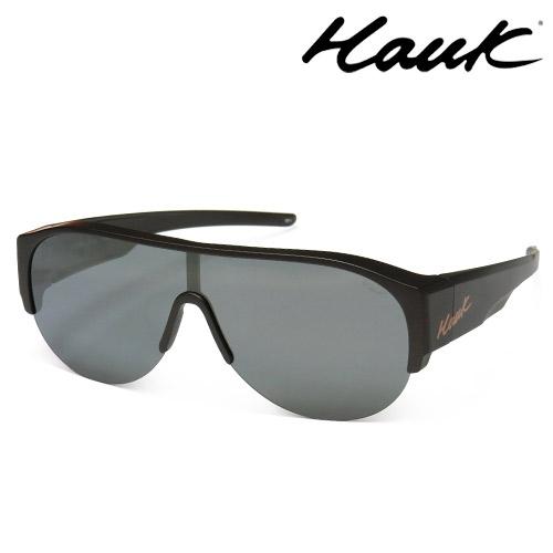 HAWK全片式運動風2用偏光太陽眼鏡 偏光套鏡(眼鏡族專用)HK1019A-49