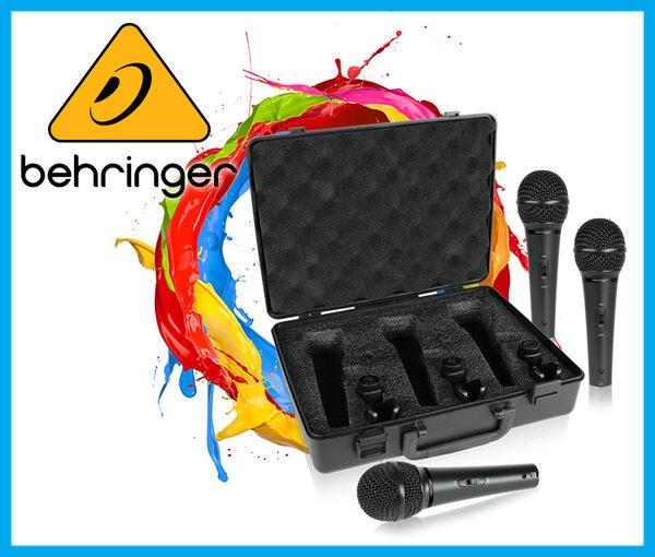 【小麥老師 樂器館】Behringer 耳朵牌 XM1800S 動圈式麥克風 麥克風 一組3隻