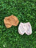 夏季女寶百搭冰絲棉短褲條紋蝴蝶結透氣棉料五分燈籠褲 全館免運