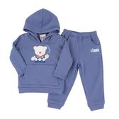 【愛的世界】小熊兄弟內刷毛長袖套裝/6~10歲-中國製- ★秋冬套裝