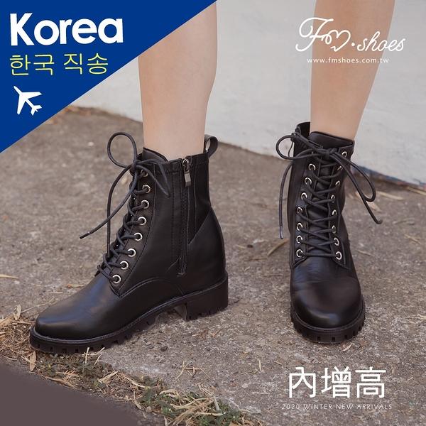 靴.馬甲內增高工程靴(黑)-大尺碼-FM時尚美鞋-韓國精選.Ivory
