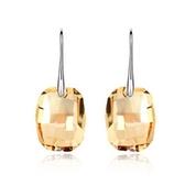 水晶耳環 925純銀(耳針式)-獨特方形生日聖誕節交換禮物女飾品6色73bc15[時尚巴黎]