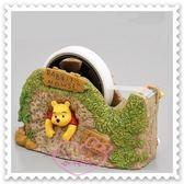 ♥小花花日本精品♥ Hello Kitty Disney迪士尼小熊維尼膠帶台膠帶座樹洞立體造型趴姿 57030203