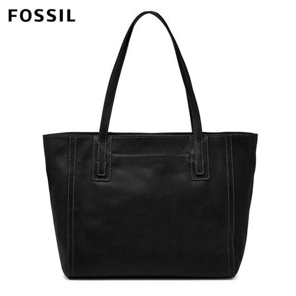 FOSSIL Emma 黑色真皮萬用大容量托特包 ZB6844001