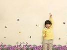 BO雜貨【YP1399】創意可移動壁貼 牆貼/壁貼/背景貼/磁磚貼/ 時尚組合壁貼 紫色柵欄