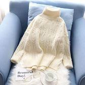 白色高領毛衣女2018新款寬鬆正韓學生套頭加厚短款冬季打底毛線衣 【星時代女王】