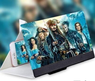 手機支架 手機屏幕放大器寶便攜折疊懶人支架高清3D看電影電視12寸