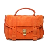 Proenza Schouler橘色麂皮手提肩背兩用包/郵差包 PS1【二手名牌BRAND OFF】