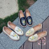 小皮鞋 正韓小白鞋英倫風平底淺口